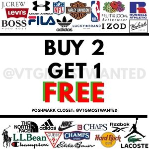 BUY 2 GET 1 FREE 🆓 ON EVERYTHING IN MY CLOSET